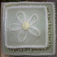 Wedding Shower #2 - Top View   Another view of the wedding shower cake I did.