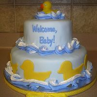 Ducky Baby Shower   Baby shower cake for a couple who don't know what their having. We figured ducks were unisex. :)