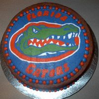 Florida Gators  A friend of mine ordered a cake from me with the logo of his favorite team - the Florida Gators! Chocolate Cake with Chocolate Icing with...