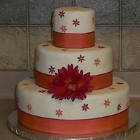 Gerber Daisy 30Th Birthday  Cake I made for my sister-in-law's 30th birthday. The party was centered around Gerber Daisies. Bottom tier is vanilaa cake (super...