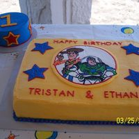 Toy Story Birthday + Smash Cake  This was a cake I did for a friend - both their sons have birthdays in March so they had a joint party - the older one is 3, the younger...