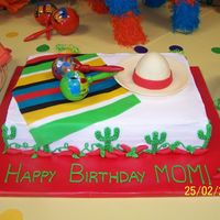 Fiesta Birthday Cake!  Made for a friend of mine for her grandmother's 85th birthday party! My inspiration was the Fiesta cakes done by TripletMom - as you...