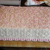 Kitchen Cake   This kitchen cake went with the square wedding cake, I reversed the colors and it was all done with buttercream