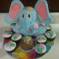 Elephant 3D Cake I made this for a girl who is obsessed with elephants! I used the 3D bear pan, cut the ears off and made elephant ears with cake board,...