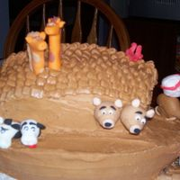 Ark Cake . Another view of the whole cake. They loved it!