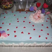 Valentines Cake I made this for my churches youth group dance. They just came and picked it up I hope they like it! It is white cake with white chocolate,...