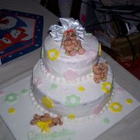 Baby Bear Cake The whole cake! m icing job is pretty bad but I filled it with berry filling(ha!) and everytime I would go over it, it would smudge. So I...