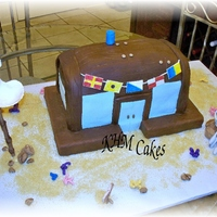 Krusty Krab Crabshack With Squidward.... playing his clarinet from the Sponge Bob TV show. Lots of fun with this one! Chocolate cake with chocolate clay for cake. Accents and...