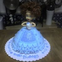 Doll Cake First doll cake.