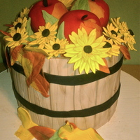 Apple Crate Cake Apple are RKT covered in Fondant