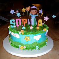 Dora The Explorer Cake Sophia's 3rd Birthday Dora Cake (No Boots please, I don't know just didn't want Boots) Chocolate cake with Swiss Meringue...