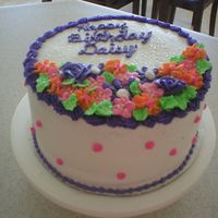 Birthday Cake With Flowers
