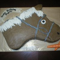 Horse   All buttercream with Fondant carrots and accents