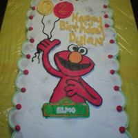 Elmo Cupcake Cake this was a cupcake cake with a FBCT of elmo