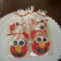 Elmo Cookies   done in fondant