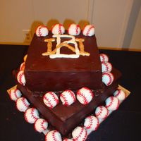 Baseball This is the logo for the groom's baseball team.
