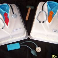 Doctor Cakes I did these last month for my brother's Med. School Graduation. One chocolate with CBC and one white with white BD. Cake design/...