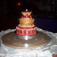 Moulin Rouge Corset Cake I made this cake for one of my best friends wedding. It was at a Moulin Rouge themed place so I made it look kind of antiqued, sort of like...