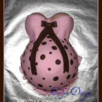 Pink And Brown Baby Shower This is a baby shower cake I did for a girl that I had made a wedding cake for last Sept.Marble/cookies n cream. Fondant and fondant...