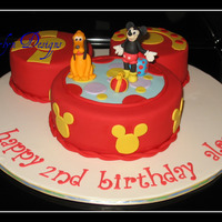 Toodles Mickey Mouse Club Toodles cake. Ears choc. fudge/b/c, face french vanilla/b/c...Fondant, gumpaste decorations TFL