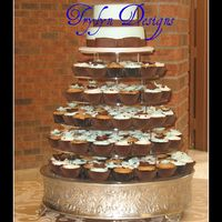 "Cupcake Wedding 6and 9"" wasc/rasp.cc and 150 cupcakes in different flavours and fillings. Gumpaste flowers on cupcakes. TFL"