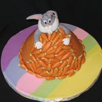 Bugs Bunny Vanilla sponge cake with Nutella filling bakes in wonder mold pan. Inspiration from CC member it was my niece who actually pick the cake so...