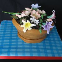 Mata.jpg Vanilla cake with chocolate filling covered in MMF. Flowers are Gumpaste.. I used the wondermold pan . TFL