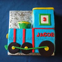 Choo Choo Train Yellow cake with cherry filling. All in MMF.