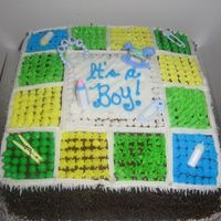 Baby Shower Quilt Cake Inspired by CC members! Thank you!!!