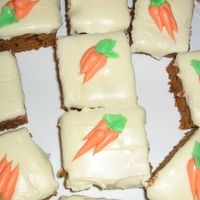 Classic Carrot Cake Cream cheese frosting and buttercream carrots.
