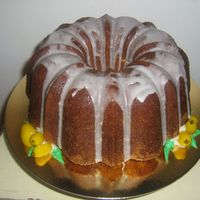 Lemon Sour Cream Bundt Cake With Marzipan Lemons