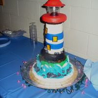 Lighthouse This was a really fun and challenging cake to do since the center of gravity was so high, it could have hit the floor at any time and I...