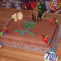 "70Th Birthday Chocolate Buttercream, first FBCT for the ""70""."