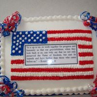 American Flag -Reagan Quote  This is placed under 4th of July just b/c of the color scheme. It was actually for a celebration of Ronald Reagan's birthday. All...