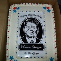 Ronald Reagan Patriotic This cake was done to celebrate Ronald Reagan's birthday.