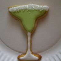 Margarita Cookie This was just for fun. My friend is turning 21 on the 31st and I was experimenting with different drink cookie cutters. this was the first...
