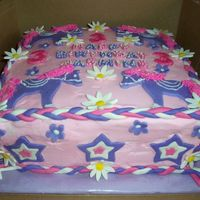 Sides Of Cowgirl Pony Cake Borders are made of braided MMF. Stars on sides as well.