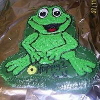 Hoppy 2 C U Frog Cake I am a big frog collector and when i seen this pan I knew I just had to use it right away. :-)