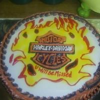 Harley Davidson Cake I made this cake for a friend of mine. First try, They loved it :-)