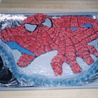 Spiderman   I made this spiderman cake for my sons 3rd birthday. It was a butter cake with bc icing.
