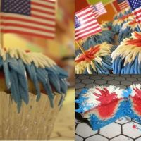 Independence_Day_Cupcake.jpg These cupcakes were colored inside, red white and blue. Everyone at the picnic that day loved them. But they took forever to make. I'm...