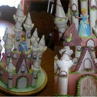 Lydias_Castle_Cake.jpg This was my sister's bday cake this year. Cinderella is her favorie princess, but there are 5 store-bought dolls on the cake (they&#...