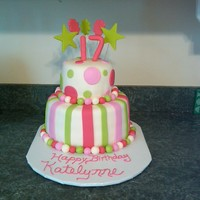 Katelynn's Birthday   Top is fudge, bottom is white chocolate, all with White Choc MMF. Thanks for looking!
