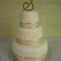 Wortham Wedding Cake   White chocolate cake with white chocolate MMF. TFL!
