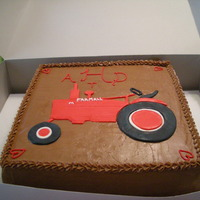 Tractor Grooms Cake Grooms cake for someone who loooooooves his FARMALL!