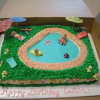 Pool Party Birthday  Birthday cake for a friends daughter. I got the idea from several cakes here on CC. Cake is white choc, buttercream dream with MMF. Thanks...
