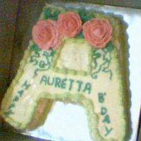 Auretta's Birthday Cake. This is a cake I made last year for my friend's birthday. I'm really proud of it cause I made it the week I was learning to make...
