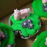Cupcakes For Madi   My niece wanted me to made cupcakes with unicorns, flowers and butterflies she has more faith in my abilities than I do...lol