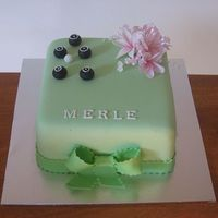 Lawn Bowls Birthday   birthday cake for a friends mum celebrating her 80th. She is a keen lawn bowler