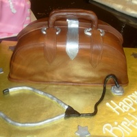 Doctor Bag Carved with MMF